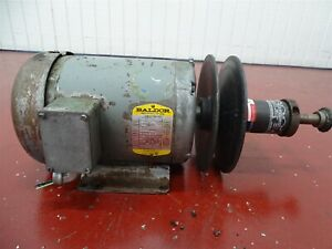 Speed Selector 409 600 Pulley W baldor M3611t Electric Motor 3hp 3ph 1725rpm