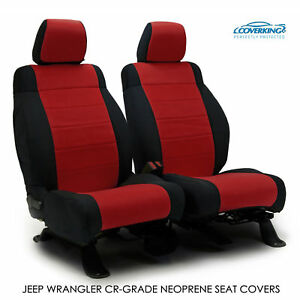 2017 Jeep Wrangler Jk Genuine Neoprene Red Seat Covers By Coverking