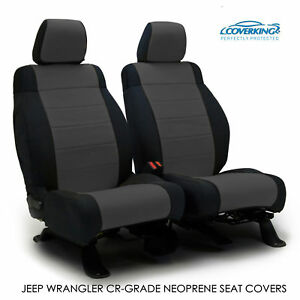 2014 Jeep Wrangler Jk Genuine Neoprene Charcoal Seat Covers By Coverking