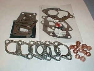 Maserati Biturbo Exhaust Manifold Turbo Gasket Set With Copper Nuts New