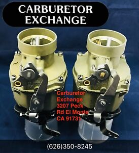 Dual Setup Chevy Gmc Remanufactured Rochester 1 Barrel Carburetor 216 Engine