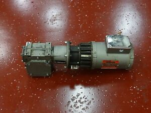 Reliance P56x4517m zx Electric Motor1hp 208 460v 60hz W electragear Reducer 20 1