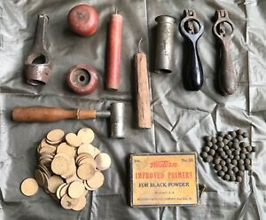 AntiqueVintage Lot of Early 12 Gage Shotgun Shell Reloading Tools (Lot 2)