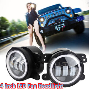 2x 4 inch 30w Led Fog Light Yellow Halo For 2011 2013 Jeep Grand Cherokee 50053