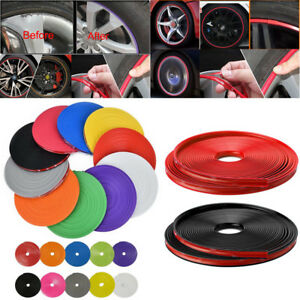 26ft Universal Car Wheel Edge Rim Ring Tire Rubber Tape Protector Sticker Line