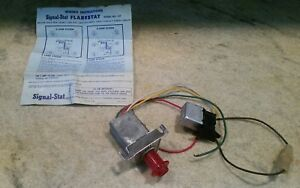 Vtg Nos Signal stat Flarestat Ii No 107 Hazard Emergency Light Switch 60 s Gm