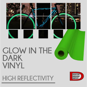 Glow In The Dark Reflective Vinyl Adhesive Cutter Sign 12 x10 Feet