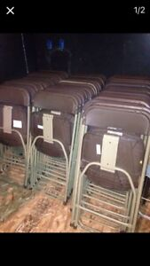 Banquet Party Fold Up Chairs Lot Of 50