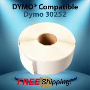Labels 30252 White Paper Rolls Compatible W Dymo Labelwriter Twin Turbo Duo