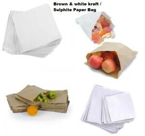 Paper Bags In White Brown Windowed Kraft For Kids Party Lunch Sandwich Bag