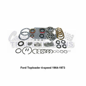 Ford Toploader 64 73 4 Speed Transmission Rebuild Kit Heh Rug Cast Iron Case