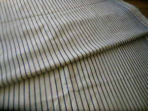 Antique French Cotton Ticking Mattress Bed Cover Unique Blue Stripe Fabric