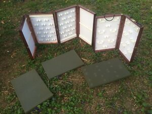 Lot Of 3 White 23 X 14 Jewelry Display Showcase To Go Portable Designs jewelers