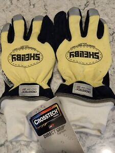 Shelby Size L Firefighters Gloves 5284l Crosstech Direct Grip Large