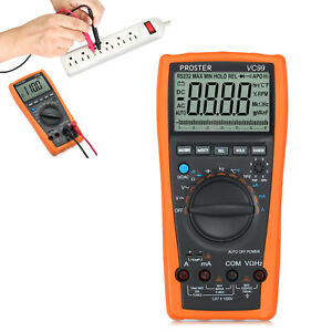 Lcd Multimeter Digital Tester Ohm C Dc Voltmeter Auto Ranging Ammeter Vc99 6999