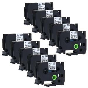 Tze 241 Tze241 Label Tape Compatible For Brother P touch Label Maker 18mm 10 Pk
