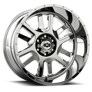 Vision Split Rim 17x9 5x4 5 Offset 12 Chrome Quantity Of 4
