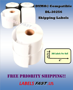 Dymo Compatible 30256 Shipping Mailing Labels Thermal White Adhesive Twin Turbo