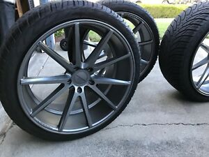 Excellent Vossen Vfs1 22 X 11 Inch Matte Graphite Wheels With Tires Mounted