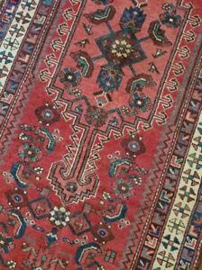 3 4 X 10 3 Antique Bijar Vintage Persian Rug Heriz Turkish Tribal