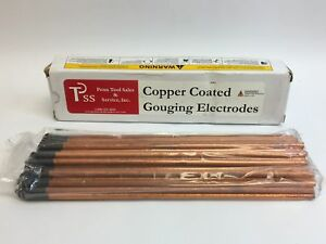 Set Of 100 Ptss Copper Coated Gouging Electrodes 1 4 X 12