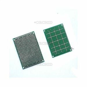 Tinned Universal Bread Board 5 X 7 Fr4 Single sided Prototype Pcb 5x7 Cm P50pcs