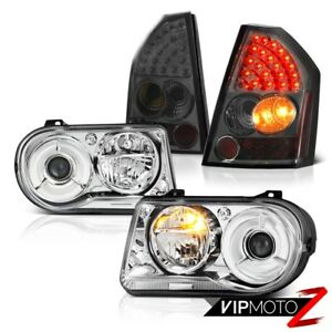 2008 2010 Chrysler 300c Projector Crystal Headlights L E D Tail Lights Smoked