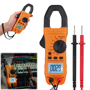 Portable Clamp Meter Digital Ac dc Ohm Trms Amp Tester Capacitance Multimeter