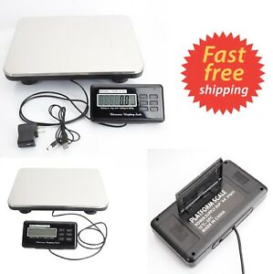 660lbs Digital Floor Platform Scale Weight Computing Postal Shipping Mailing New