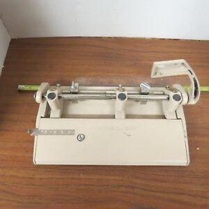 Foothill 3 Hole Punch 310 Adjustable Heavy Duty Vintage Paper Lever