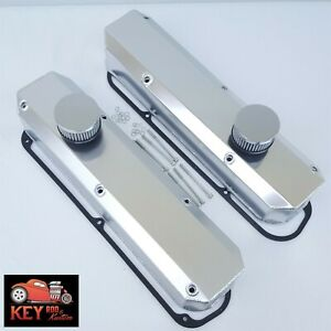 Small Block Mopar Fabricated Satin Aluminum Valve Covers Chrysler 318 340 360
