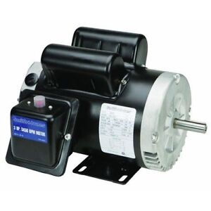 3hp Electric Compressor Duty Motor Reversible 240v 3600rpm Single Phase Dual New