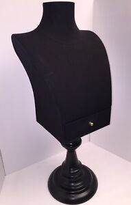 Mannequin Torso Dress Form Clothing Jewelry Counter Display W Drawer 27 Black