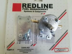 Weber Redline Fuel Pressure Regulator With Fittings 1 5 20 Lbs To Less That 3lbs