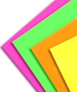 Fluorescent Colored Rectangle Labels Self Adhesive Stickers On A4 Sheets