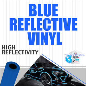 Reflective Vinyl Adhesive Cutter Sign Special Price 24 X 150ft Blue