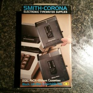 7 Smith Corona Typewriter 251 Dual Pack Black Ribbon Cassettes Life rite Film