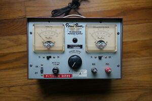 Vintage Regulated Power Supply Perma power Model A 400 Adjustable