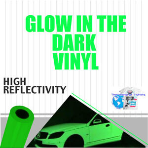 Glow In The Dark Reflective Vinyl Adhesive Cutter Sign 24 x3 Feet