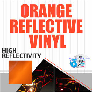 Orange Reflective Vinyl Adhesive Cutter Sign Hight Reflectivity 24 X 10 Ft