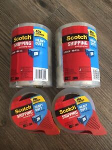 Scotch 3850 3m Clear Heavy Duty Shipping Packing Tape 8 Rolls 436 Yd 400 M