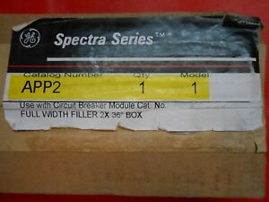 Ge App2 Spectra Series Filler Plate Kit New unopened Factory Box