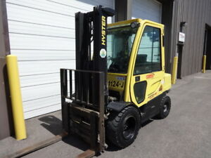2010 Hyster 6 000 Pound Gas Pneumatic Forklift Model H60ft With Cab Heat