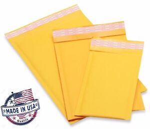 Kraft Bubble Mailers Padded Envelopes 0 1 2 3 4 5 6 7 00 000 Usa Made