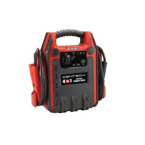 4 In 1 Jump Starter With Air Compressor And Led Work Light