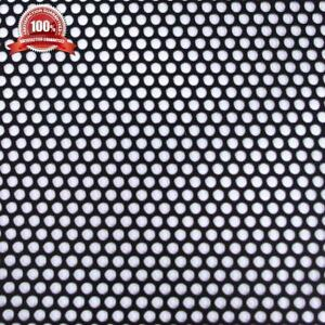 Small Hole Perforated Aluminum Metal Sheet Corrosion Resistant Black 36x36 Inch