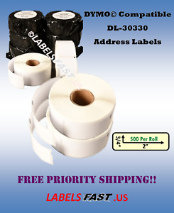 Address Labels 30330 Internet Postage Dymo Xl Thermal White Blank Adhesive Rolls