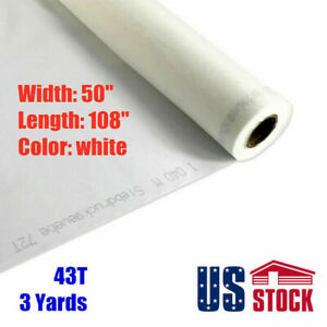 Usa Stock 3 Yards Silk Screen Printing Mesh Fabric 110 43t 110 108 L