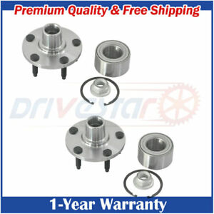 Set 2 New Front Lh And Rh Wheel Hub Bearings For 07 10 Ford Edge Lincoln Mkx