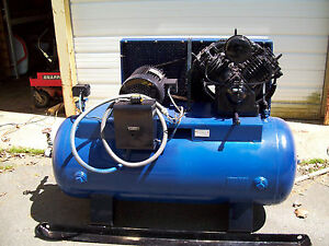 Emglo 10 Hp Model 452 Uv 2 Cylinder Air Compressor With A Lincoln Electric Motor